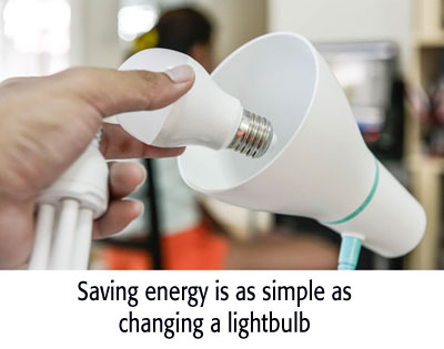 Saving energy is as easy as screwing in a lightbulb