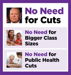 No need for cuts