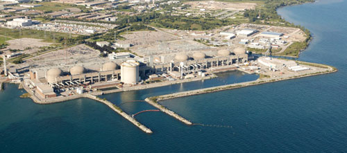 The Pickering Nuclear Station takes up 600 acres on the waterfront